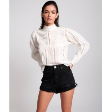 OneTeaspoon Black Bandits High Waist Denim Short