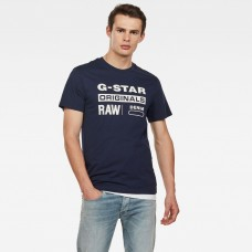 G-Star Graphic 8 Tee Sartho Blue