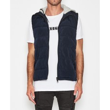 Kiss Chacey Hunter Hooded Vest- DK Navy