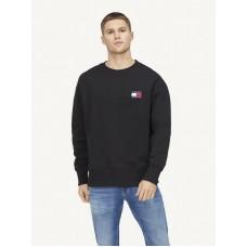 Tommy Hilfiger Badge Crew Neck Sweater Black