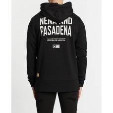 Nena and Pasadena Become The Thunder Step Hem Hooded Sweater Jet Black