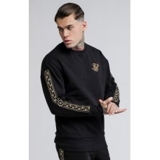 Sik Silk Cartel Drop Shoulder Crew Sweat Black
