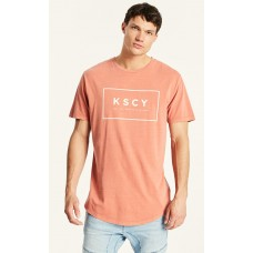 Kiss Chacey Chicago Dual Curved Hem Tee Pigment Burnt Red