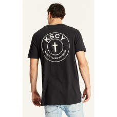 Kiss Chacey Church Step Hem Tall Tee Jet Black