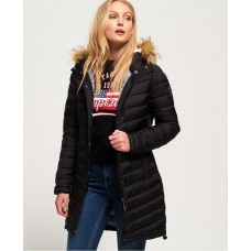 Superdry Chevron Faux Fur Super Fuji Black