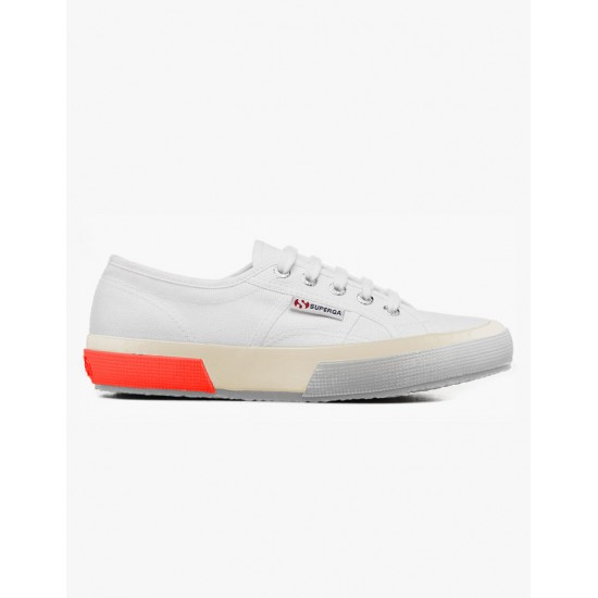Superga 2750 Cotushinyfoxing White Red Fluro