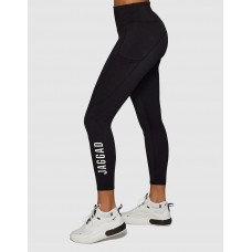 Jaggad Classic Side Pocket 7/8 Legging Black