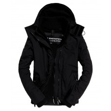 Superdry Arctic Hood Pop Zip Windcheater Black