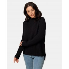 Maxted Ruby Funnel Neck Black