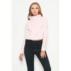 Nana Judy Adeline Crop Sweater Acid Pink