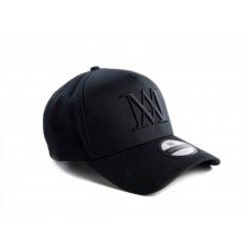 Manasse Cotton SnapBack Black/Black
