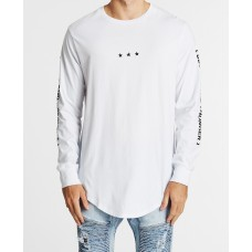 Nena and Pasadena Ammunition Dual Scoop L/S Tee White