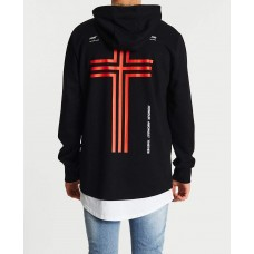 Kiss Chacey Astray Layered Hoodie Jet Black