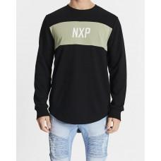 Nena and Pasadena Be Free Dual Curved Sweater Jet Black