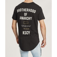 Kiss Chacey Brotherhood Dual Scoop Tee Jet Black