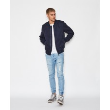 Kiss Chacey Brooklyn Bomber Jacket- Washed Indigo