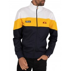 Ellesse Caprini Track Jacket Navy Yellow