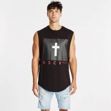 Kiss Chacey Concord Dual Curved Muscle Tee Jet Black
