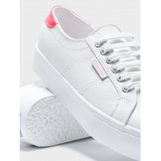 Superga 2730 Nappa White/Coral Leather