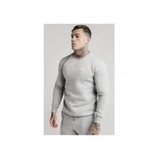 Sik Silk Crew Sweater Grey Marl