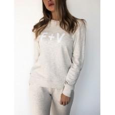 Fox + Velvet Yellow Marle Sweater