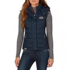 Superdry Fuji Slim Double Zip Vest WMN Navy