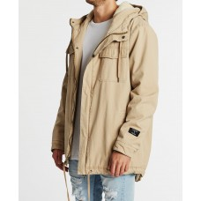 Kiss Chacey Granada Hooded Parka Jacket Sand