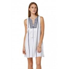 Elwood Hannie Dress White/Navy