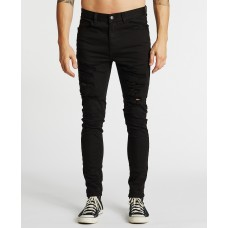 Kiss Chacey K-1 Skinny Fit Jean Destroyed Black