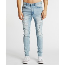 Kiss Chacey K-1 Skinny Fit Jean Destroyed Defiance Blue