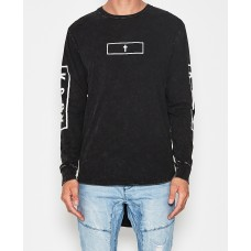 Kiss Chacey Established L/S Curved Hem T-Shirt Acid Black