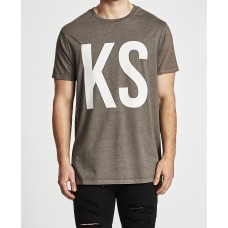 Kiss Chacey KSCY Step Hem Tall Tee Pigment Charcoal