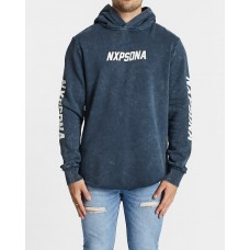 Nena and Pasadena Lifestyle Hooded Dual Curved Sweater Acid Navy