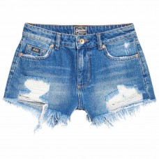 Superdry Eliza Cut Off Short Tide Blue