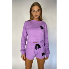 Cartel & Willow Badge Logo Long Sleeve Lavendar
