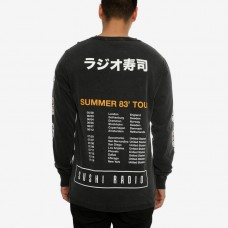 Sushi Radio Machine L/S T-Shirt-Vintage Black