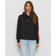 Nena and Pasadena Game Changer Hooded Sweater Black/Red Wmn