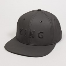 King Apparel Oben 6 Panel Snapback Cap Black