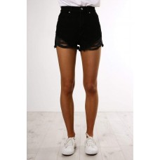 Abrand A High Relaxed Short Black Salt