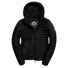 Superdry Core Down Hooded Jacket Black