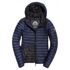 Superdry Core Down Hooded Jacket Navy