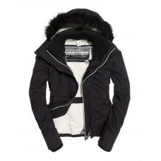 Superdry Hood Fur Sherpa Wind Attacker Black/Ecru