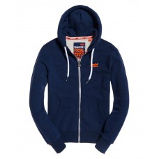 Superdry Orange Label Ziphood Montana Blue Grit