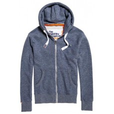 Superdry Orange Label ZipHood Gravel Blue Grit Men's