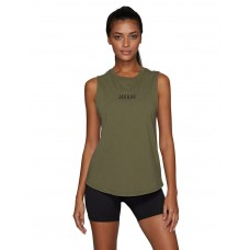 Jaggad Side Step Muscle Tank Khaki