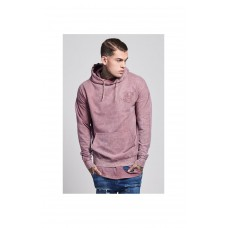 Sik Silk Drop Shoulder Hoodie Pink