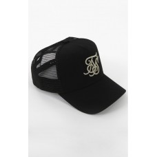 Sik Silk Mesh Trucker Cap Black and Gold