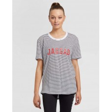 Jaggad Striped Tee with Red Logo
