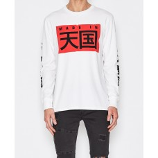 Sushi Radio Big Japan L/S Tee-White
