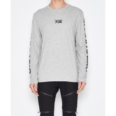 Sushi Radio Made L/S T-Shirt-Grey Marle